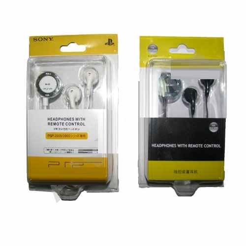 Headphones with remote control PSP 2000/3000 (black/white)