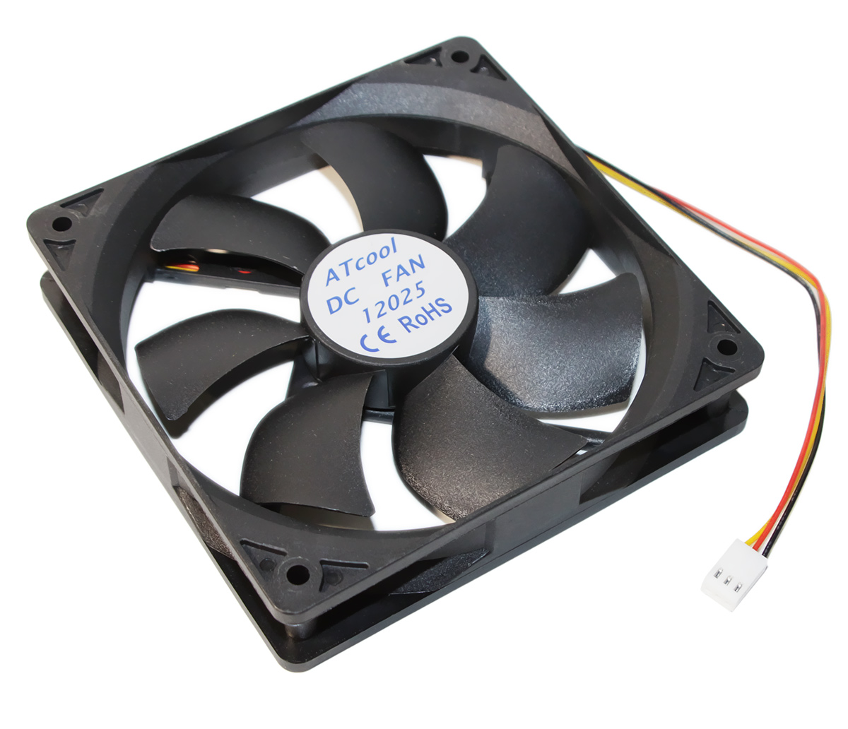 Вентилятор 120 mm ATcool 12025 DC sleeve fan 3pin- 120*120*25мм