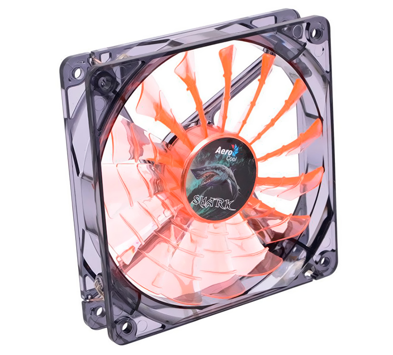 Вентилятор 120 mm Aerocool Shark Fan 120мм (Evil Black/Orange) LED Retail