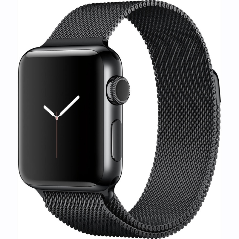 Apple Watch Series 2 Sport 38mm Space Black Stainless Steel Case with Space Black Milanese (MNPE2FS)