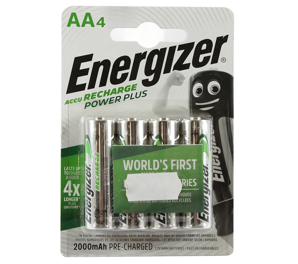 Аккумулятор AA, 2000 mAh, Energizer Recharge Power Plus, 4 шт, 1.2V, Blister (ENR PP RECH 2000)
